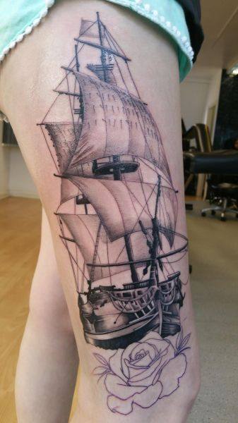 Stef started this beautiful ship yesterday still got the background and rose to finish but here it is so far: Swipe To View More Images